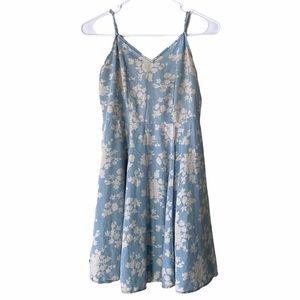 Tinseltown Denim Couture Floral Sun Dress Size XS